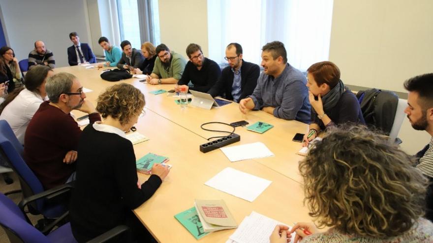 Reunión de Alberto Cañedo en Bruselas con eurodiputados y representantes políticos de diferentes países
