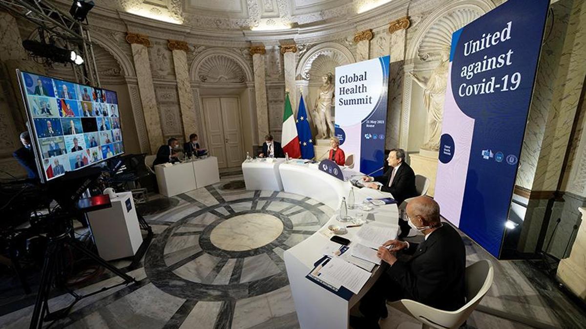Imagen de la 'Cumbre de Salud Global' del G20 bajo la presidencia de Italia.