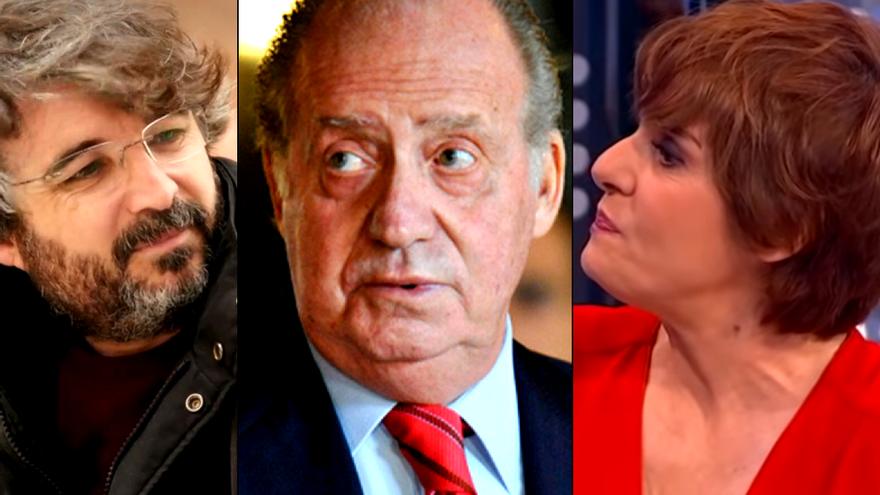 Jordi Évole y Anabel Alonso son dos de los rostros televisivos que se han pronunciado sobre la marcha del emérito
