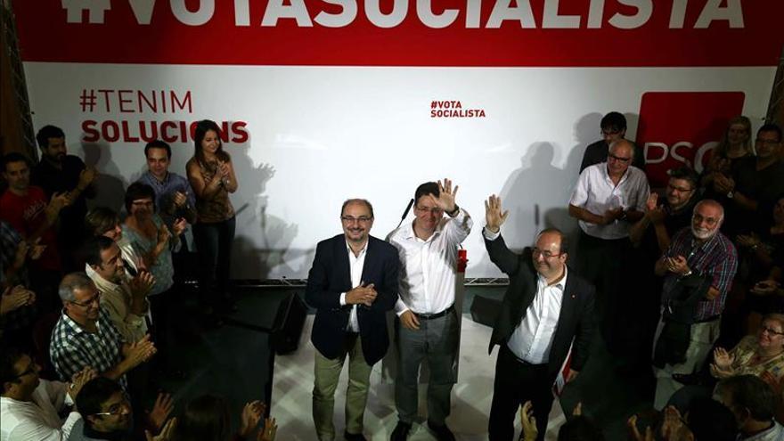 "Lambán afirma que ""todo terremoto"" en Cataluña afecta ""directamente"" a Aragón"