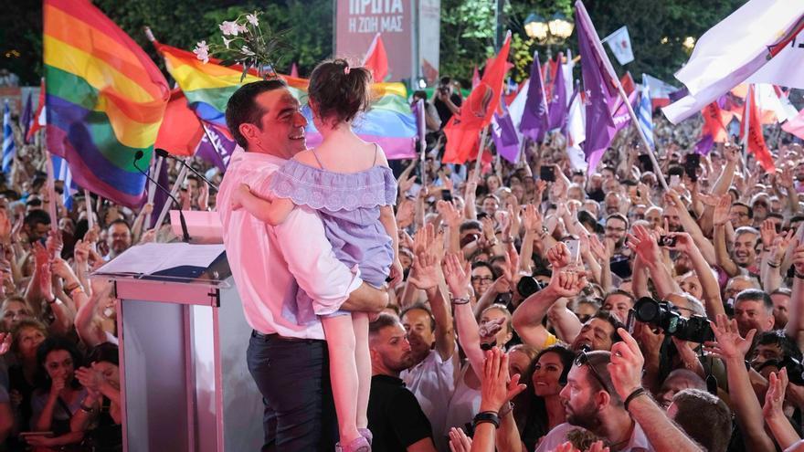 Alexis Tsipras, en un acto en Syntagma, el 5 de julio de 2019.