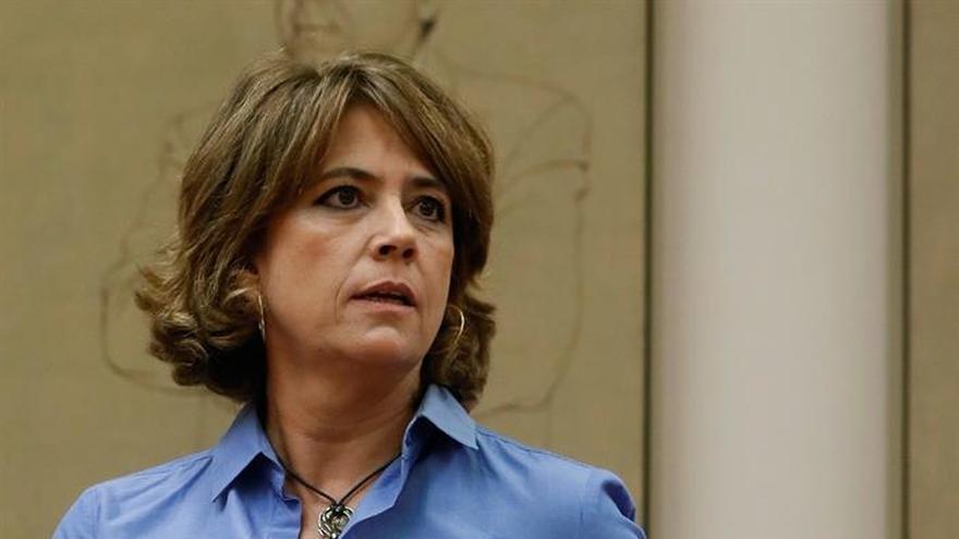 La ministra de Justicia, Dolores Delgado, durante su comparecencia de este martes en el Congreso.