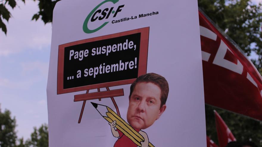 Manifestación docentes interinos en Toledo