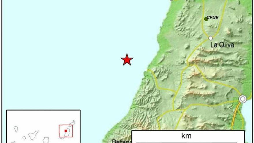 La Oliva registra un terremoto de magnitud 3,5 sentido por la población.