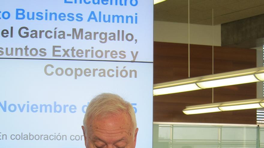 """García-Margallo dice que en Cataluña """"se va a restablecer el imperio de ley"""" y no se va a """"ninguna anarquía"""""""