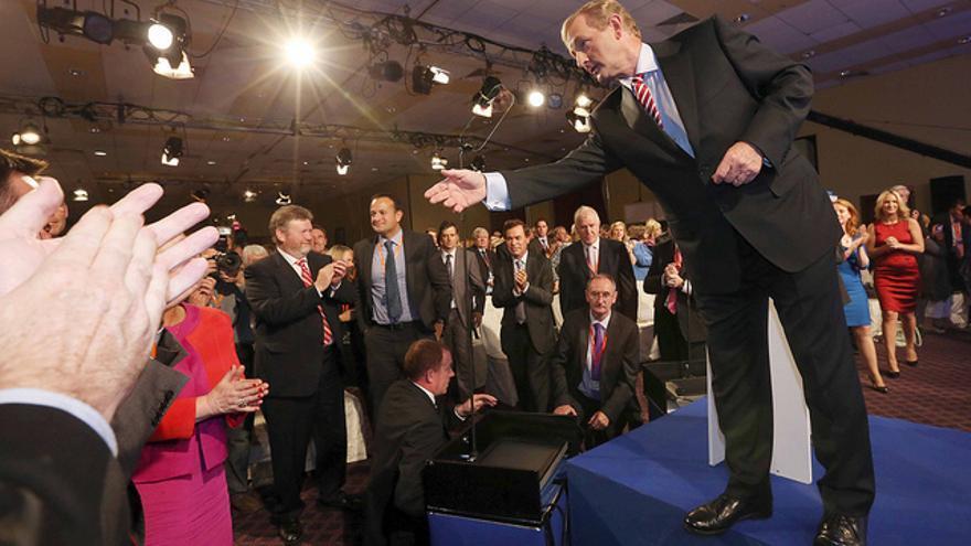 El primer ministro, Enda Kenny, en el último congreso de su partido.