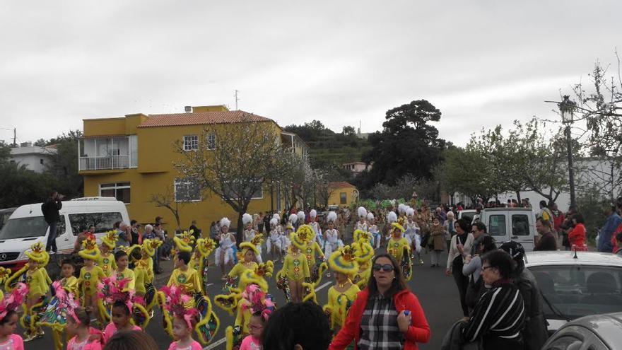 Imagen de archivo del coso infantil del carnaval de Puntagorda.