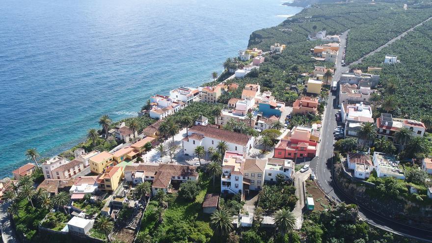 Vista área de la Villa de San Andrés del municipio de San Andrés y Sauces.