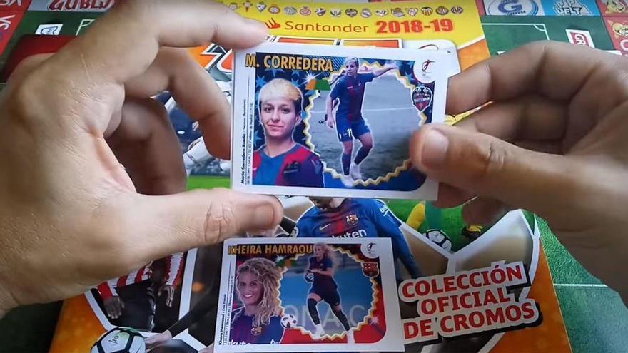 Álbum de futbolistas elaborado por María Vázquez.