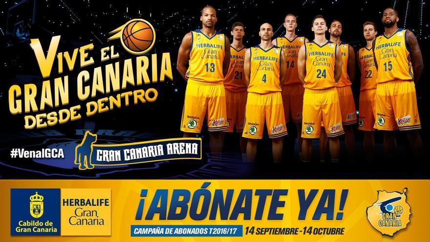 Cartel de promoción para abonarse al Herbalife Gran Canaria.