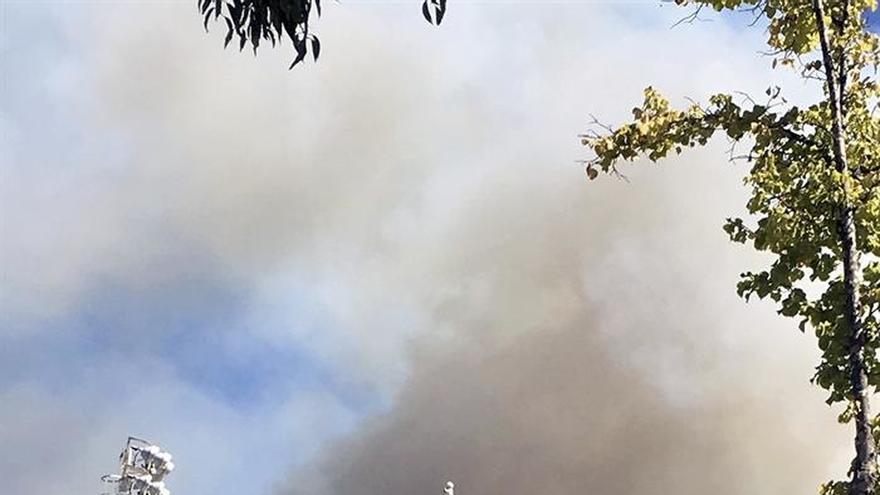 Treinta dotaciones bomberos y 7 medios aéreos trabajan en incendio Collserola
