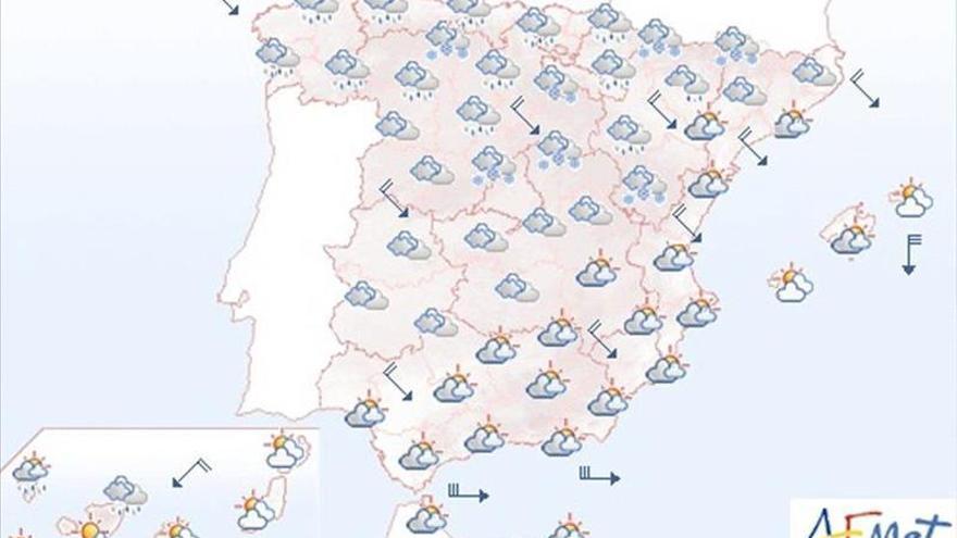 Vientos fuertes en el litoral norte, Gerona, Baleares y Alborán para mañana