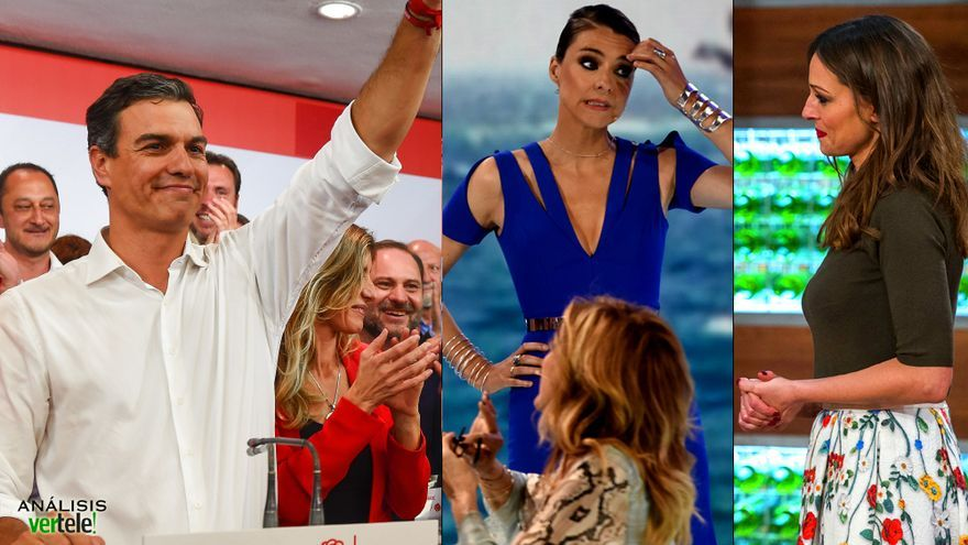 Pedro Sánchez / Sandra Barneda / Eva González