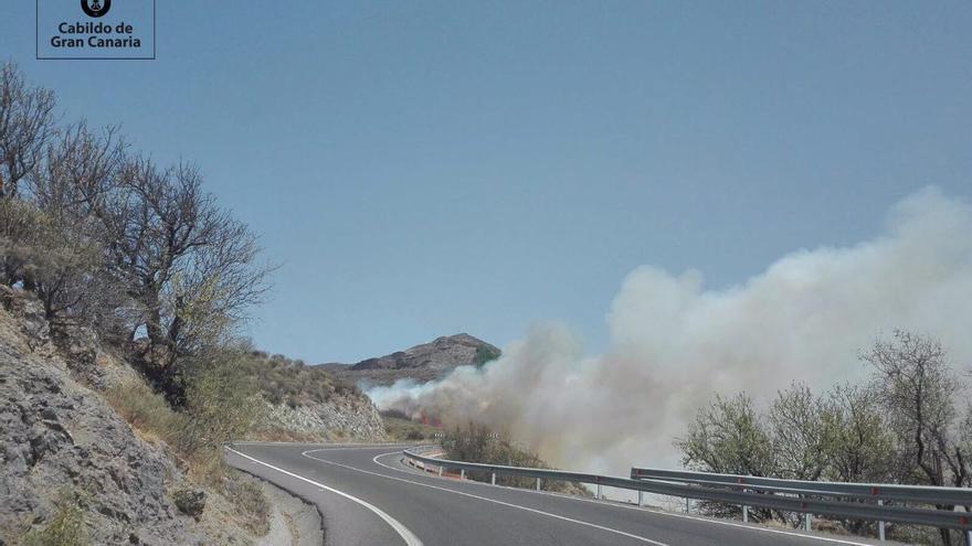 Incendio en Tejeda