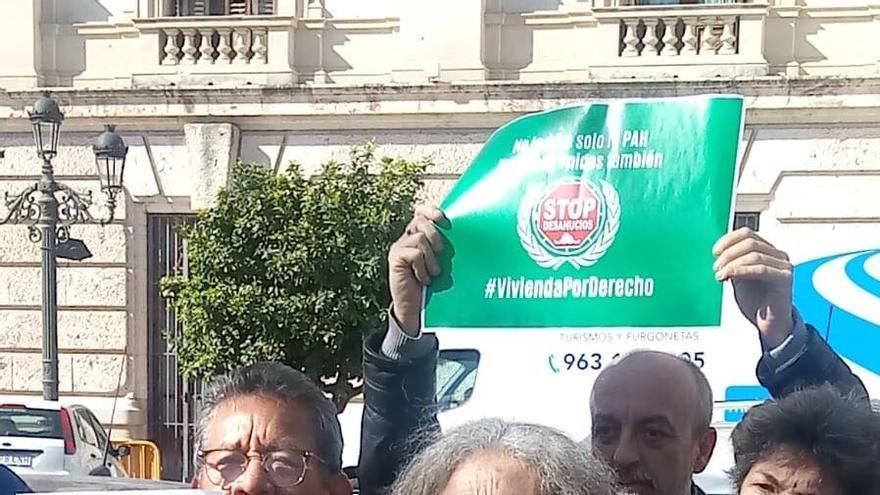La protesta de la PAH de València