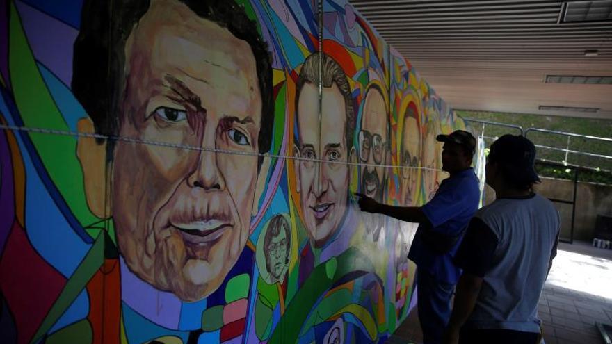 Mural colectivo honra memoria de los mártires de la guerra civil salvadoreña