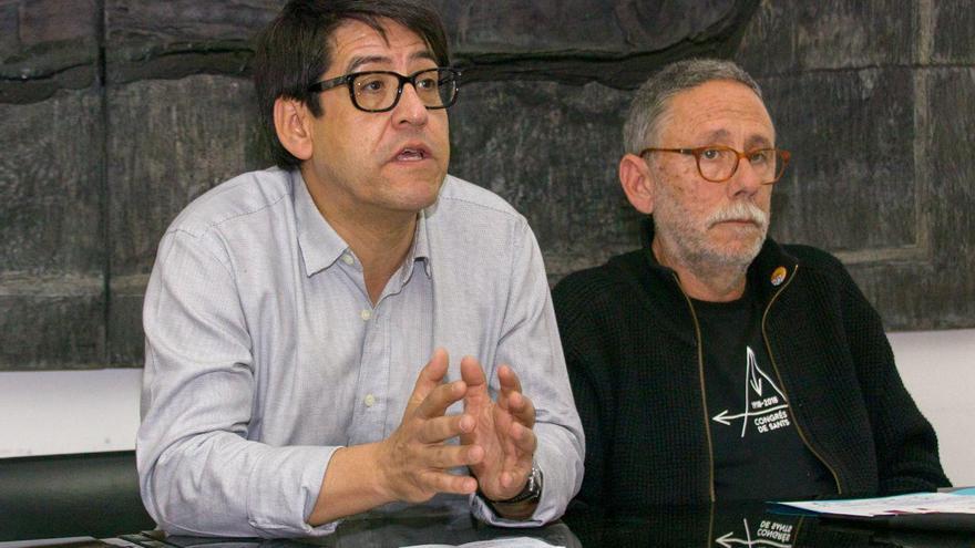 Luis Enrique Espinoza, de la EMSV de Toledo, con Ferrán Aguiló, de Cooperativa La Borda