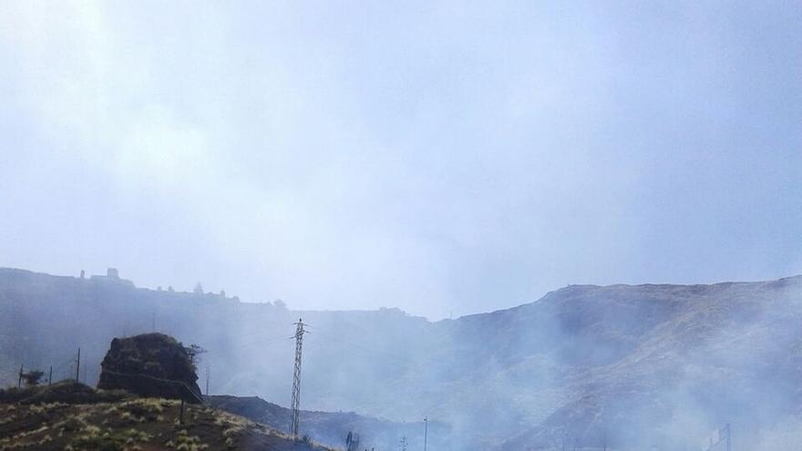 En la imagen, zona del incendio registrado en la capital.