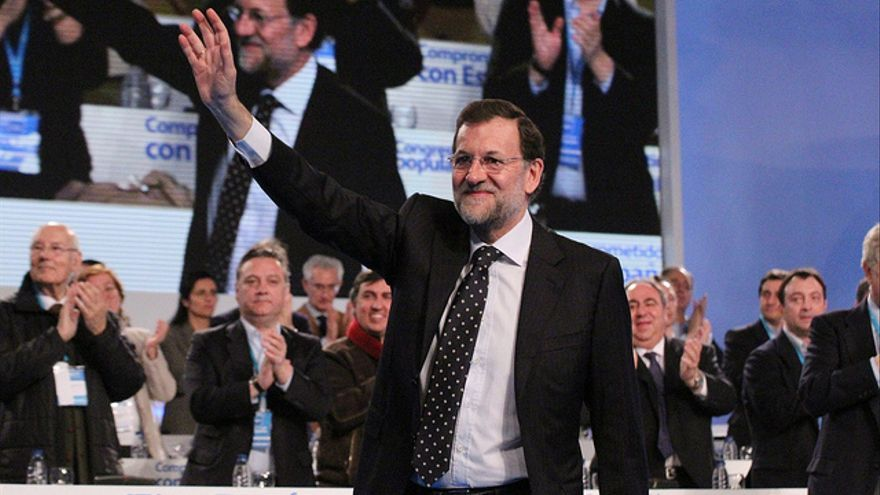 Mariano Rajoy, durante el 17 congreso nacional del PP.