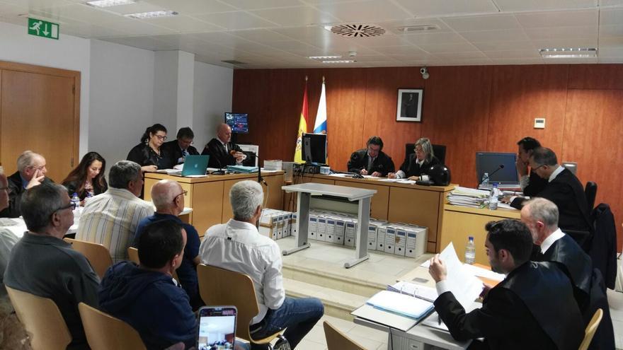 En la imagen, inicio del juicio por el caso de Los Tarajales este jueves. Foto: LA PALMA AHORA.