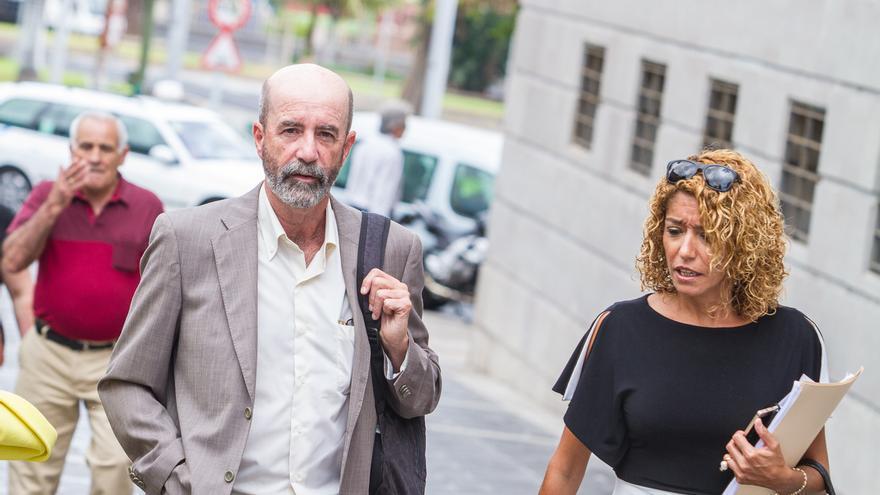 Santiago Pérez en el juicio de Las Teresitas.