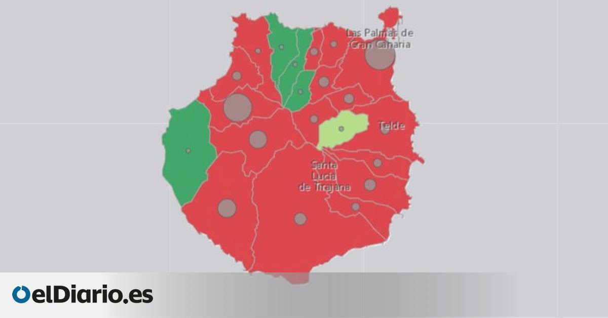 La desigual distribución de los casos de COVID en las islas: se concentran en Gran Canaria y se reparten en Tenerife
