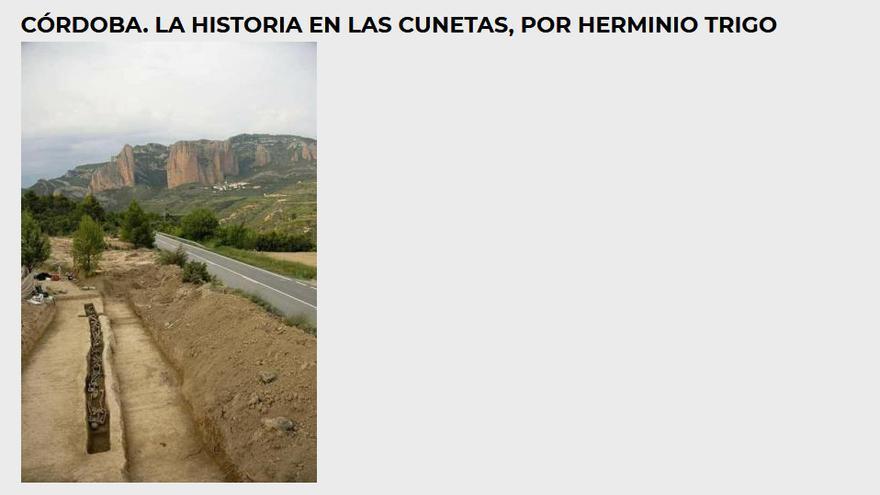 Artículo de Herminio Trigo, exalcalde de Córdoba, reproducido en la web de 'Todos los nombres'.