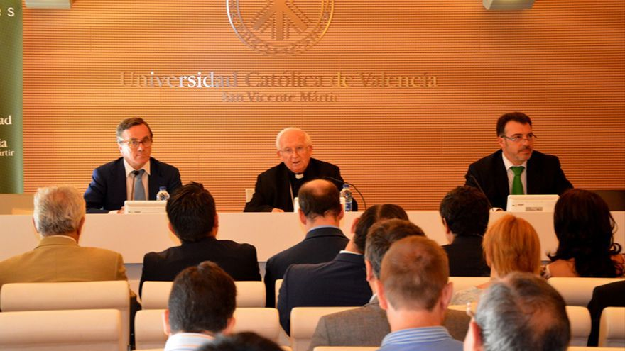 Antonio Cañizares, durante su discurso de apertura de los cursos de verano de la UCV