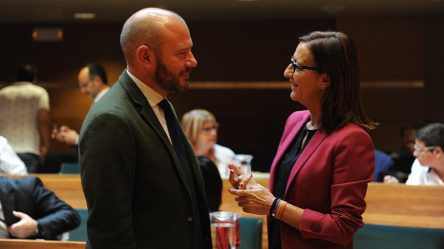 Toni Gaspar (PSPV) y Maria Josep Amigó (Compromís)