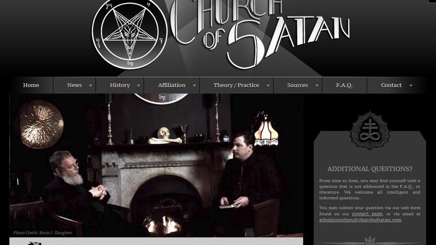 Imagen de la página web oficial de la Iglesia de Satán