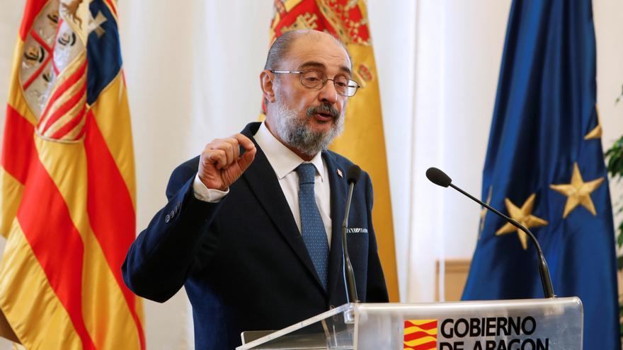 """Lambán insta a evitar """"tentaciones frentistas"""" en la reunión de Galicia"""