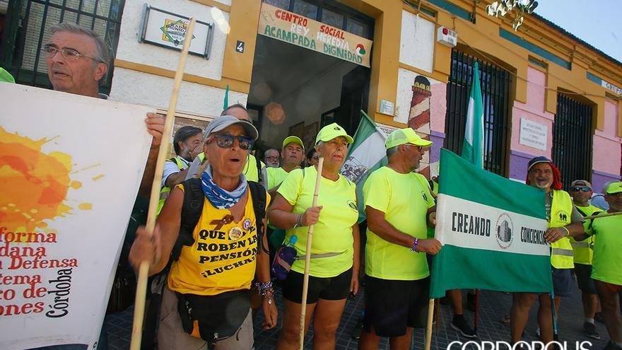 La marcha de los pensionistas a su llegada a Córdoba   MADERO CUBERO