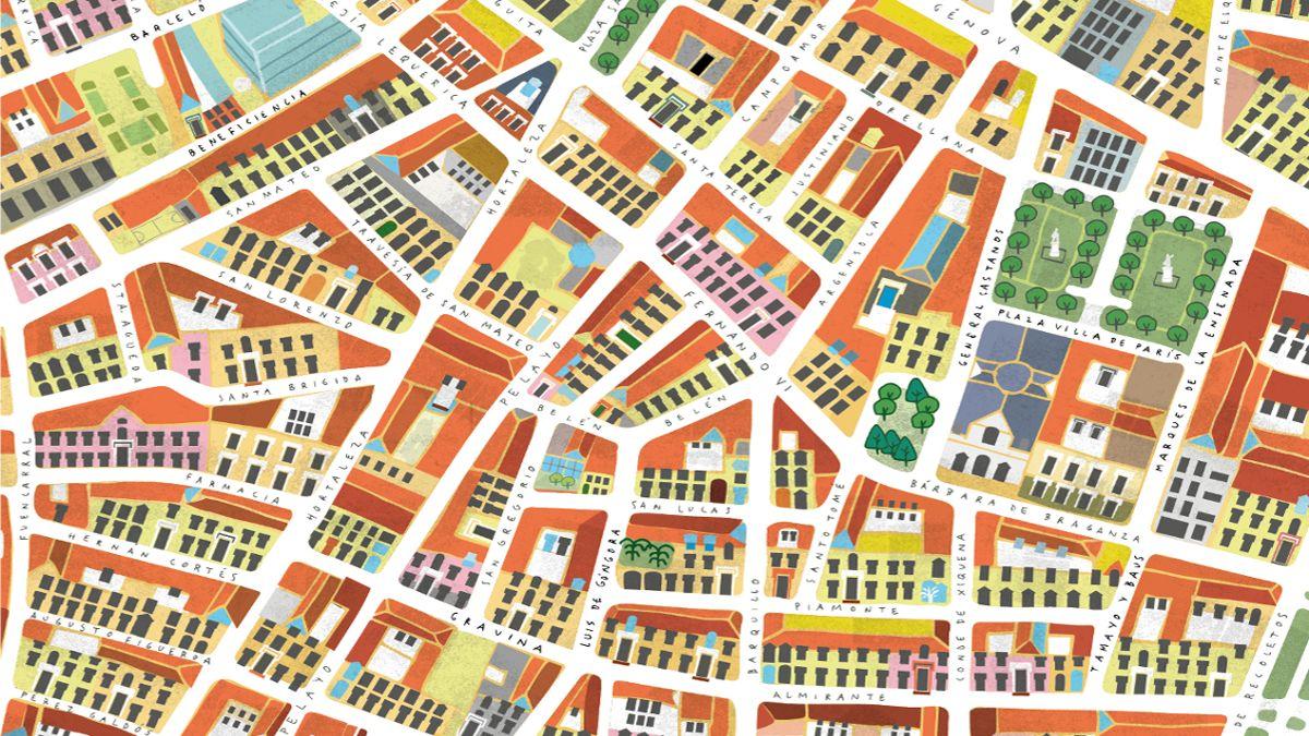Plano de la zona de Las Salesas | SALESAS VILLAGE