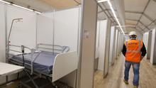El segundo hospital de campaña de Aragón, en la Feria de Muestras, contará con 400 camas