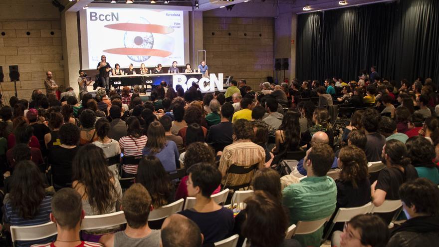 Un encuentro de la pasada edición del Barcelona Creative Commons Film Festival