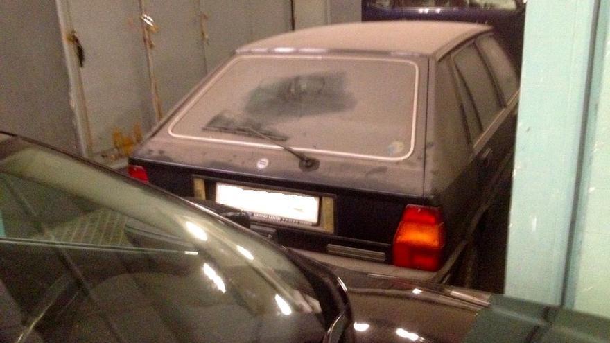 El coche estaba abandonado desde que Barberá fue proclamada alcaldesa en 1991