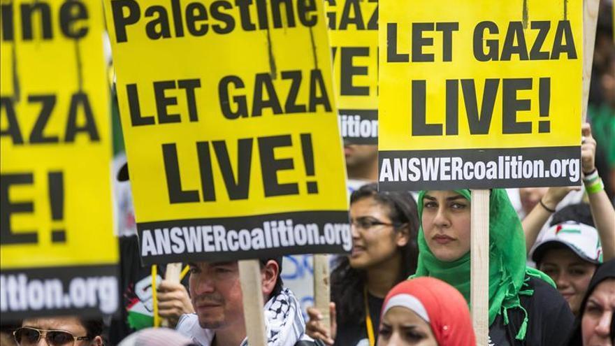 Miles de manifestantes protestan ante la Casa Blanca por los bombardeos de Gaza