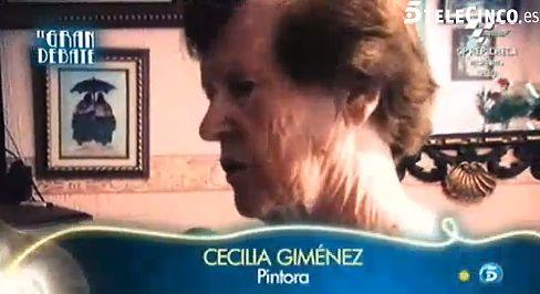"""Cecilia, la restauradora del Ecce Homo, en 'El Gran Debate': """"He hecho exposiciones y vendido cuadros"""""""