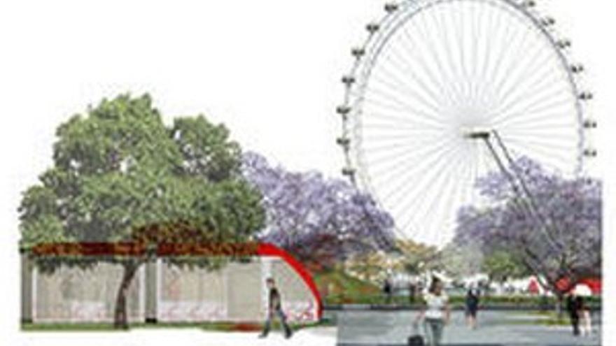 El proyecto Metrolap, de los arquitectos canarios Joaquín Casariego y Elsa Guerra, proponía una noria para Santa Catalina.