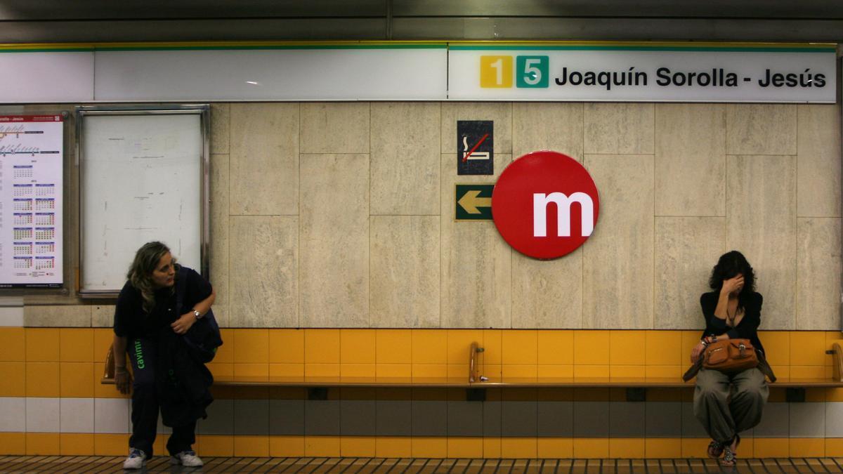 L'estació de metro de Joaquín Sorolla-Jesús, a València, on es va produïr l'accident el 3 de juliol de 2006.