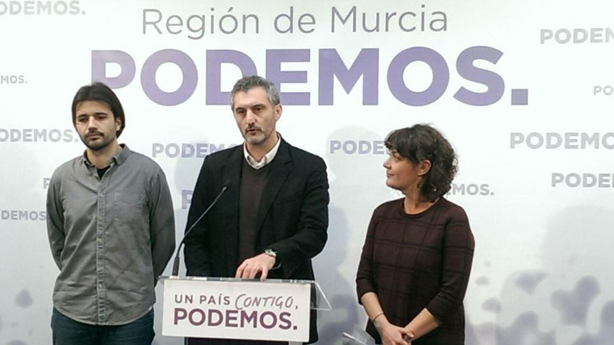 Javier Sánchez Serna, Óscar Urralburu y María Giménez