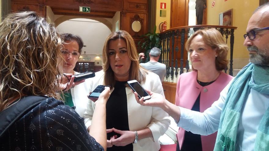 """Susana Díaz confía en que el nuevo Gobierno solucione los problemas de sequía y la Junta """"arrimará el hombro"""""""