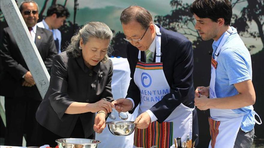 Gastón Acurio y Virgilio Martínez cocinan con Ban Ki-Moon un menú ecológico