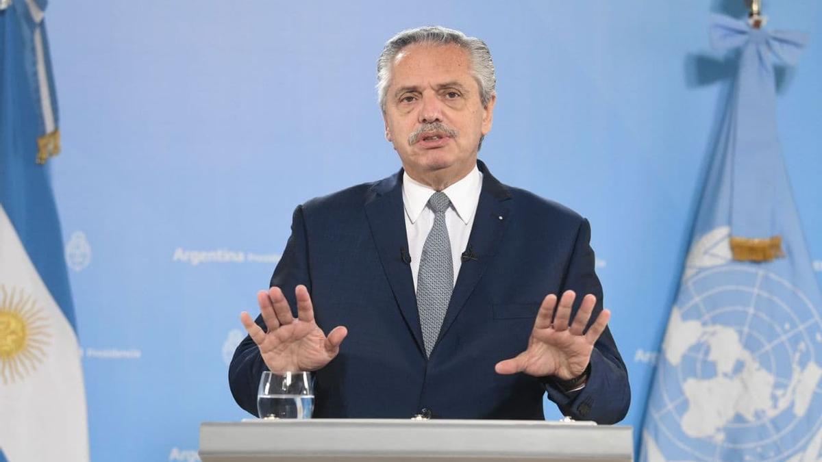 Alberto Fernández en su discurso ante Naciones Unidas