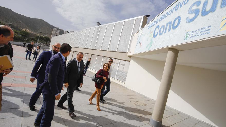 Inauguración del pabellón de deportes del Cono Sur de Las Palmas de Gran Canaria