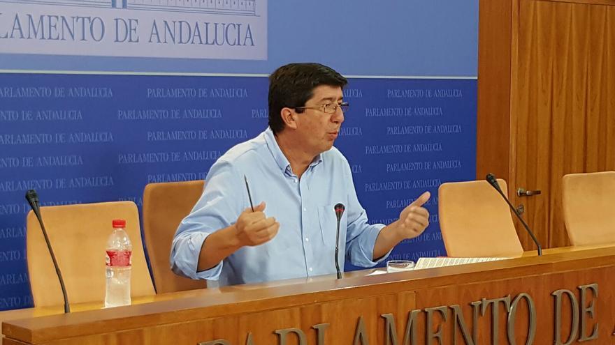 Juan Marín, portavoz parlamentario de C's.