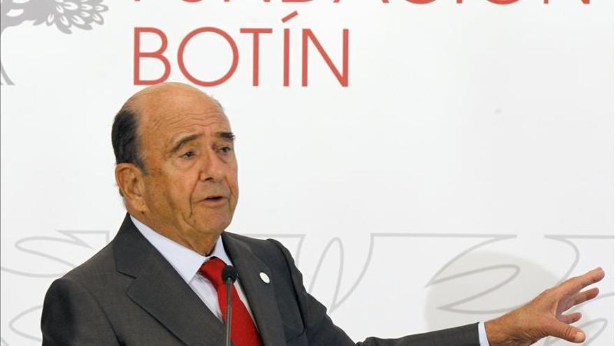 Botín ve positivas las previsiones del Banco de España, pero alerta del paro