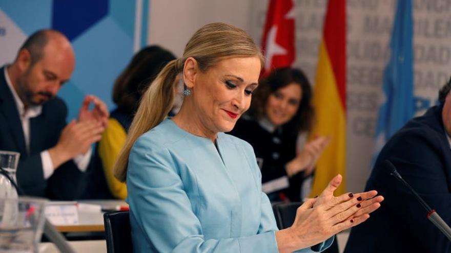 La presidenta de la Comunidad de Madrid, Cristina Cifuentes, durante la reunión del Comité Ejecutivo del PP de Madrid.