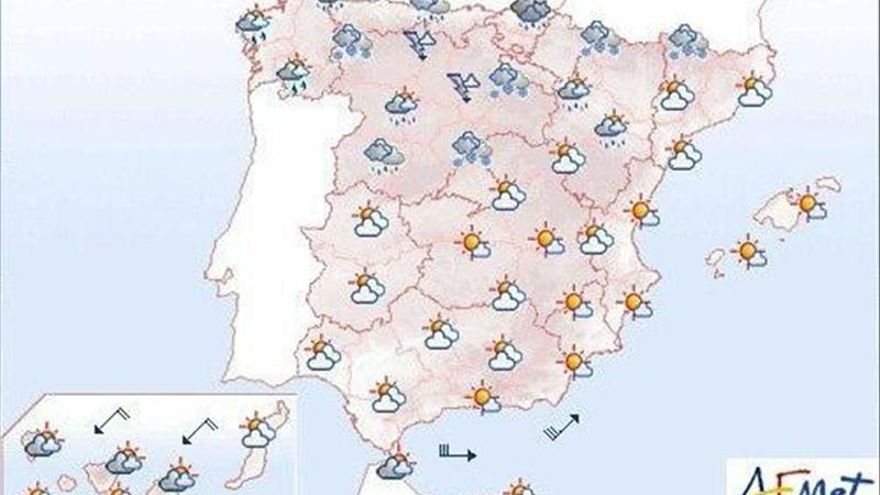 Viento fuerte en el Sureste peninsular y nevadas en la mitad Norte