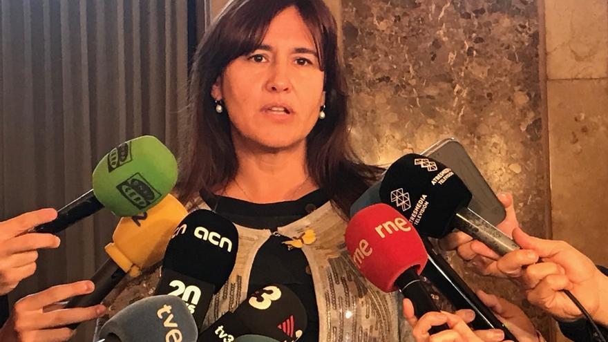 """Borràs (JxCat) mantiene su 'no' a Sánchez y acusa a Podemos de comprar """"el marco del 155"""""""